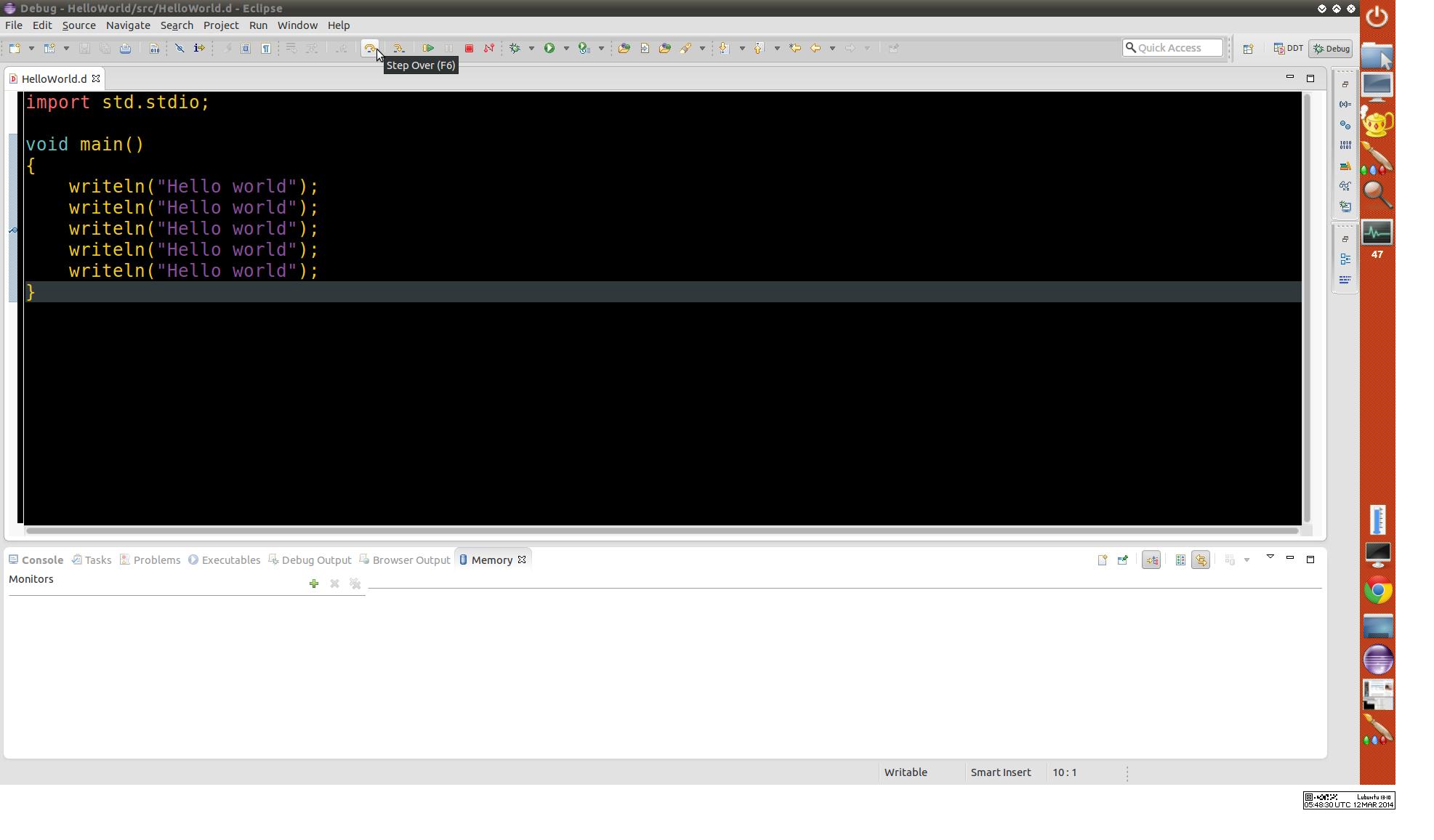 Digitalmarsde Setting Up Gdb Debugger With Eclipse
